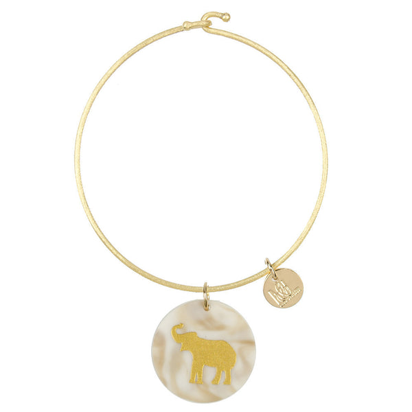 I found this at #moonandlola! - Eden Elephant Charm Bangle