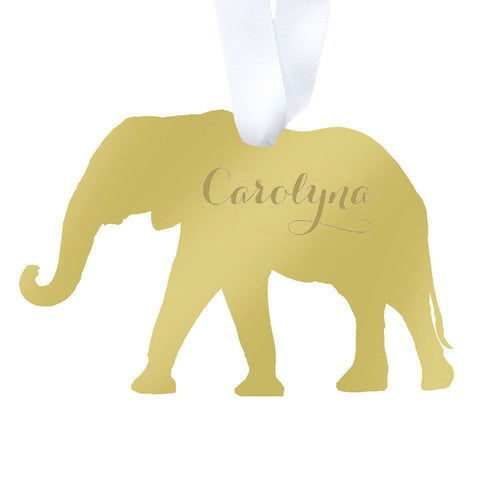 I found this at #moonandlola! - Elephant Ornament with Monogram
