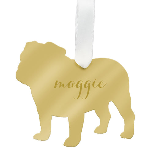 I found this at #moonandlola! - Personalized English Bulldog Ornament
