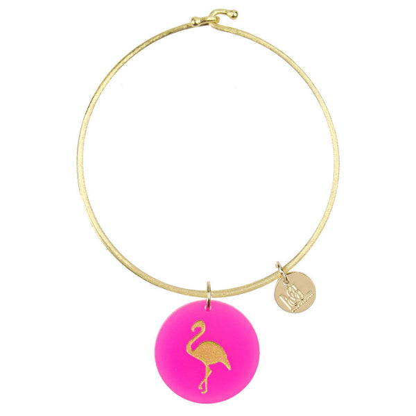 I found this at #moonandlola! - Eden Flamingo Charm Bangle