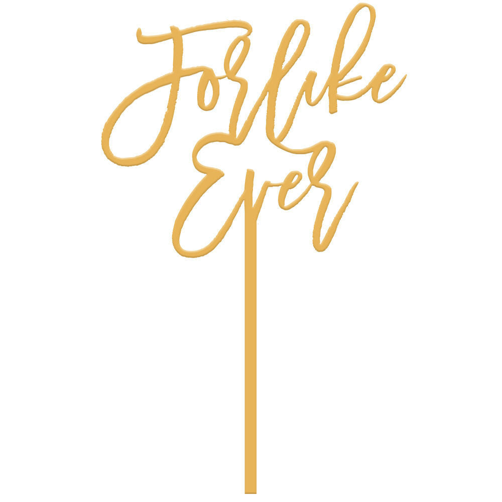 1b744316c6 I found this at #moonandlola! - For Like Ever Cake Topper in Antique Gold