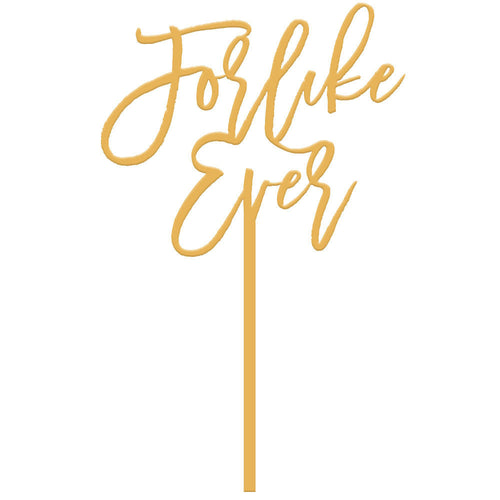 I found this at #moonandlola! - For Like Ever Cake Topper in Antique Gold