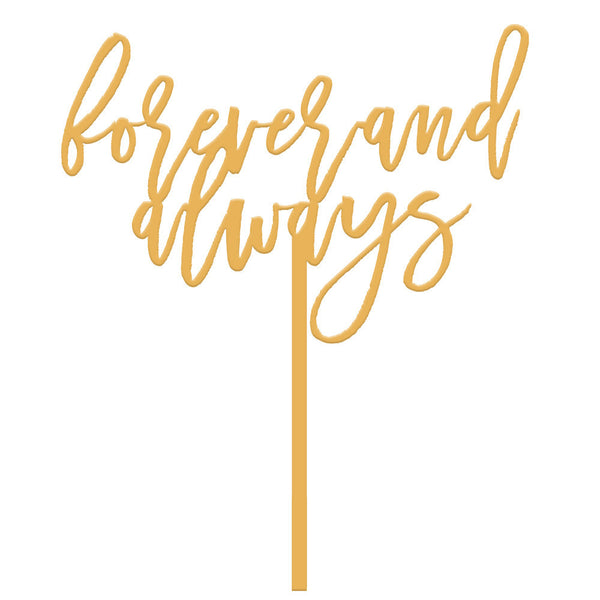 Moon and Lola - Forever and Always Cake Topper in Antique Gold