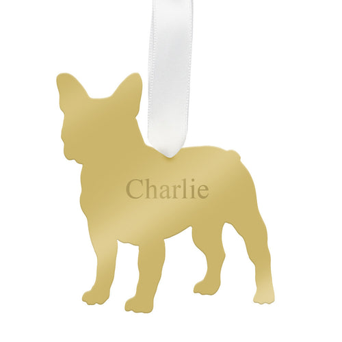 I found this at #moonandlola! - Personalized French Bulldog Ornament