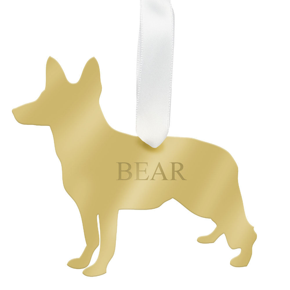 I found this at #moonandlola! - Personalized German Shepherd Ornament