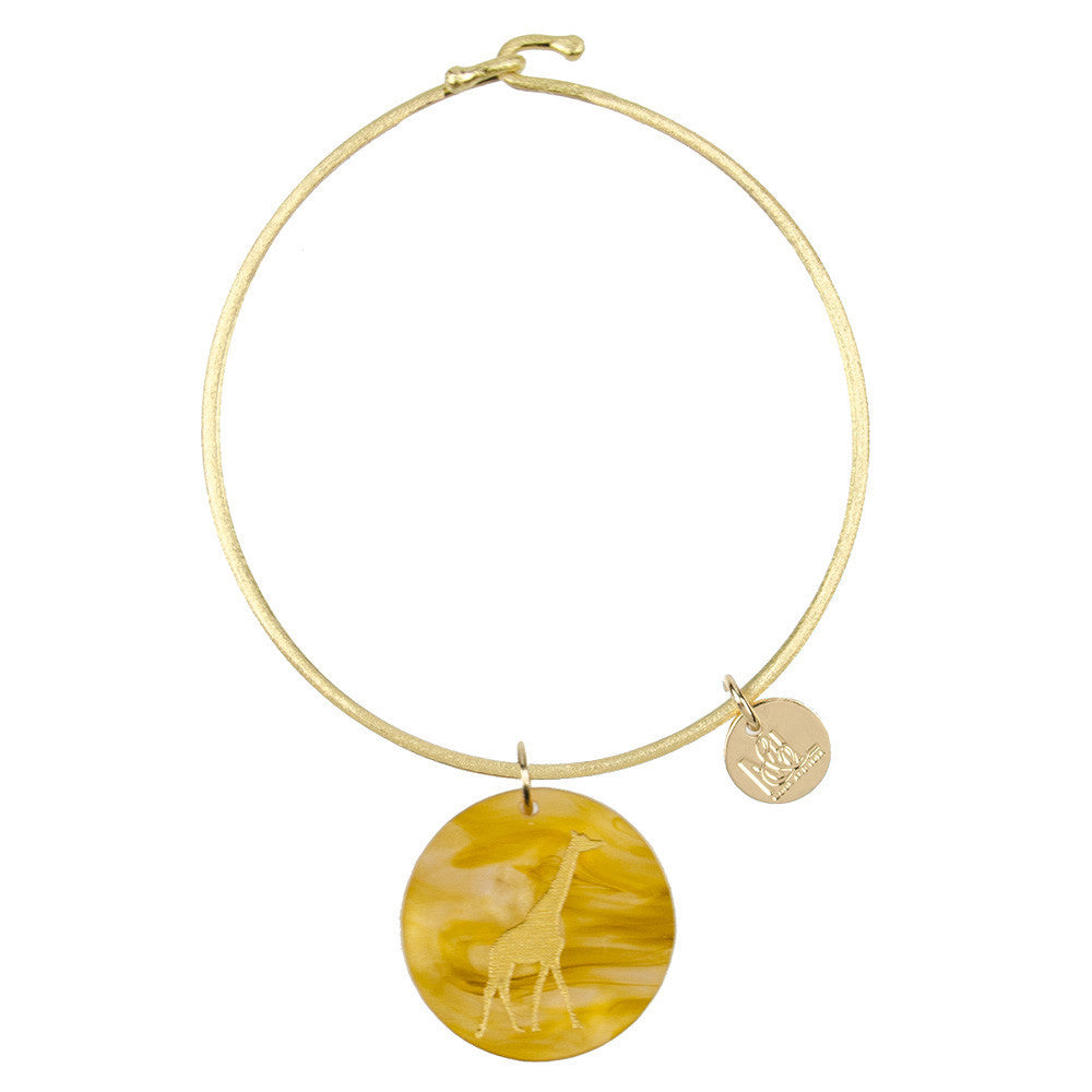 I found this at #moonandlola! - Eden Giraffe Charm Bangle