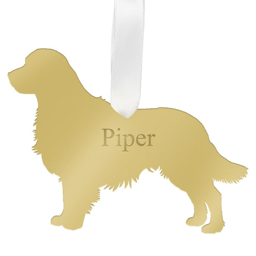 I found this at #moonandlola! - Personalized Golden Retriever Ornament