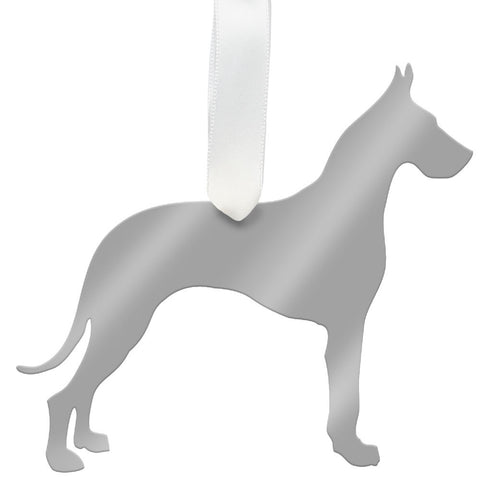 I found this at #moonandlola! - Great Dane Ornament Mirrored Gold