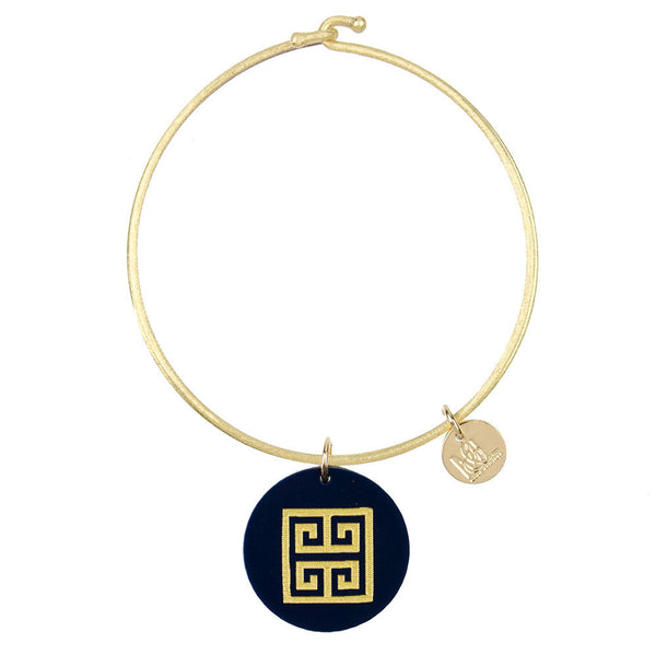 I found this at #moonandlola! - Eden Greek Key Charm Bangle