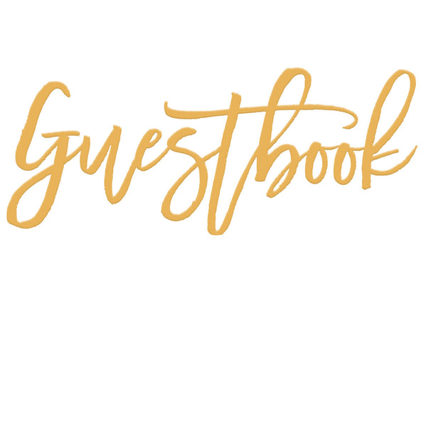 Guestbook Tabletop Sign