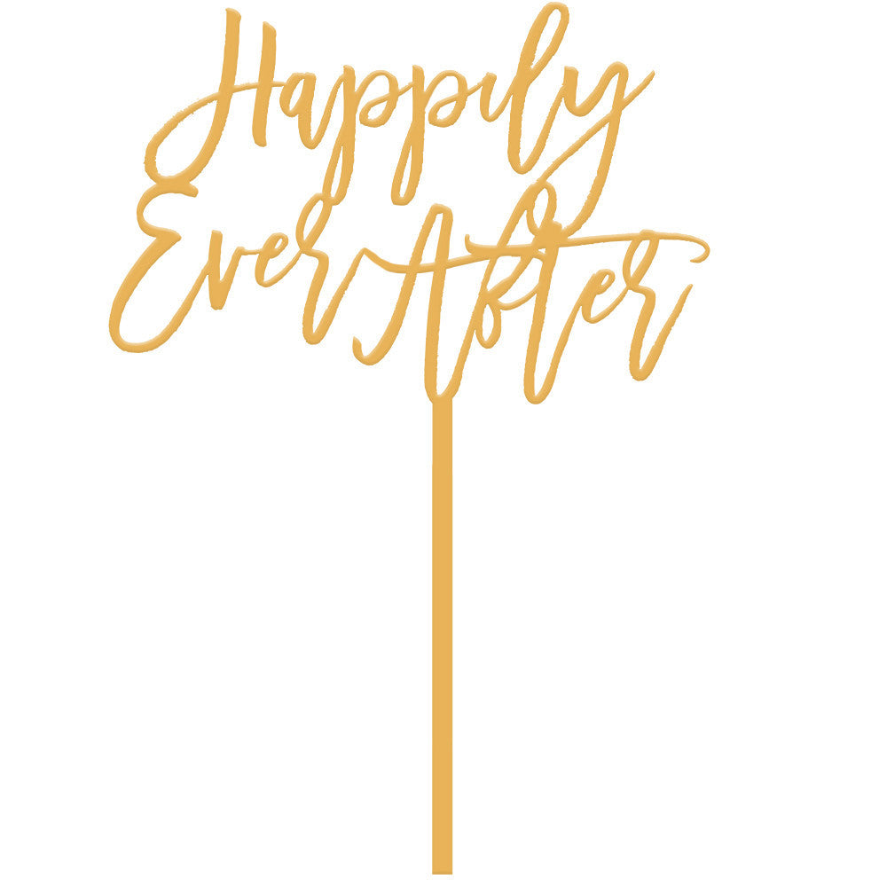 I found this at #moonandlola! - Happily Ever After Cake Topper Antique Gold