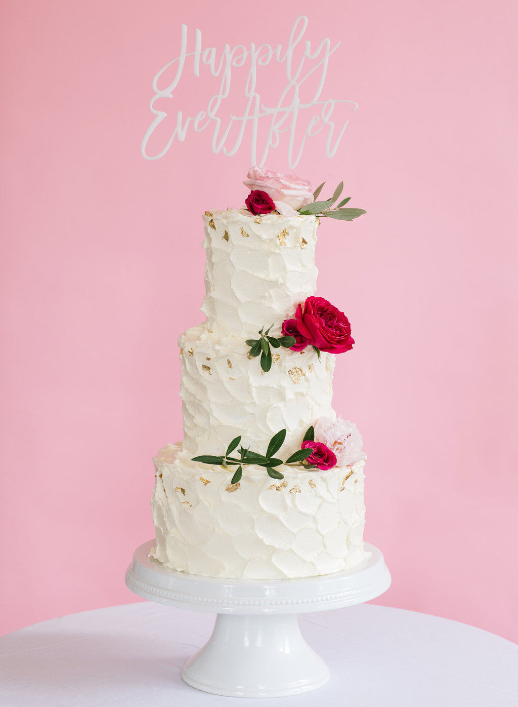 I found this at #moonandlola! - Happily Ever After Cake Topper on Tall Cake