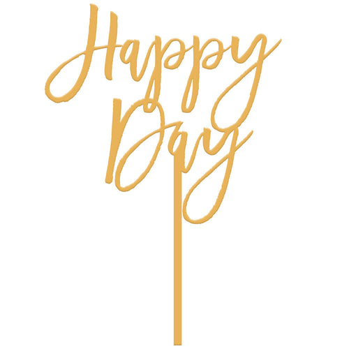 I found this at #moonandlola! - Happy Day Cake Topper in Antique Gold