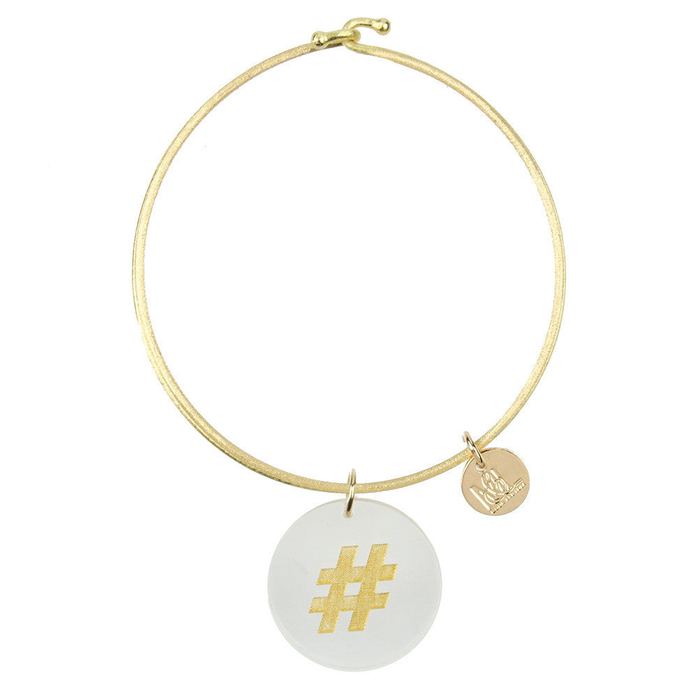 I found this at #moonandlola! - Eden Hashtag Charm Bangle
