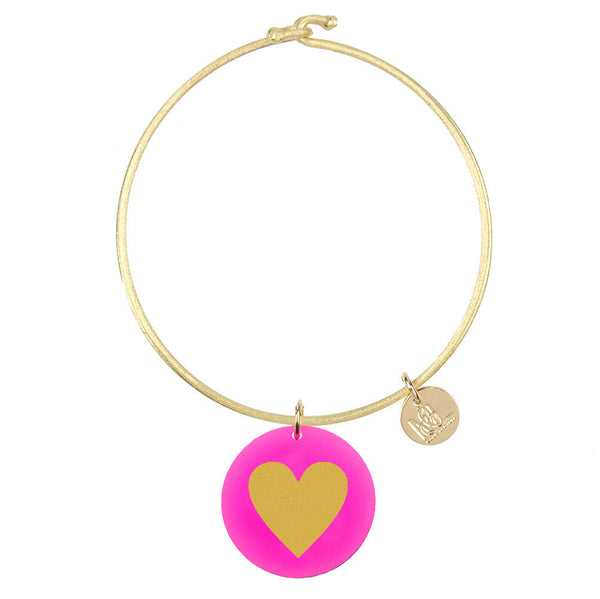 I found this at #moonandlola! - Eden Heart Charm Bangle