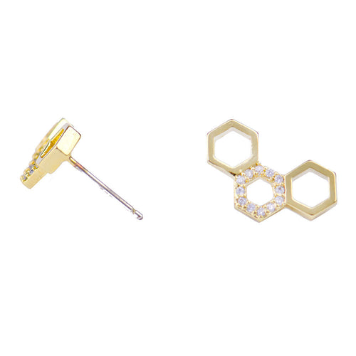 I found this at #moonandlola! - Honeycomb Studs side view