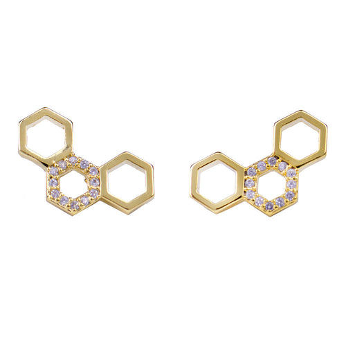 I found this at #moonandlola! - Honeycomb Studs