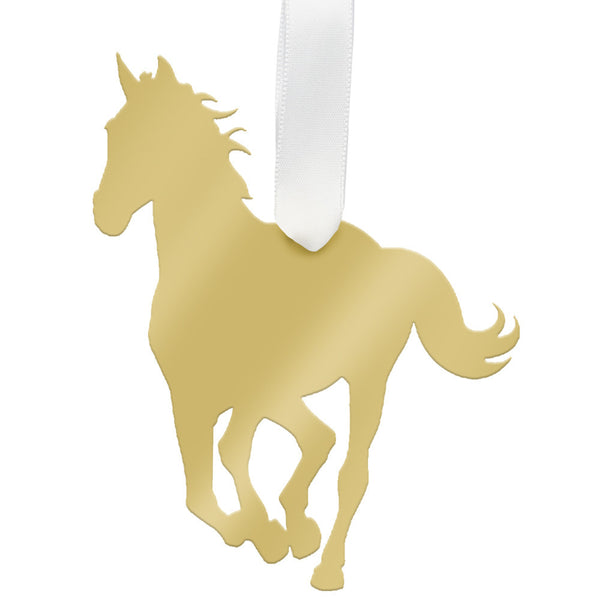 Moon and Lola - Horse Ornament Mirrored Gold