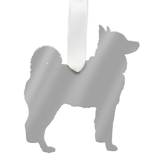 I found this at #moonandlola! - Husky Ornament Mirrored Silver