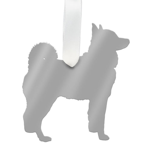 Moon and Lola - Husky Ornament Mirrored Gold