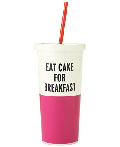 Moon and Lola - Kate Spade Eat Cake For Breakfast Tumbler