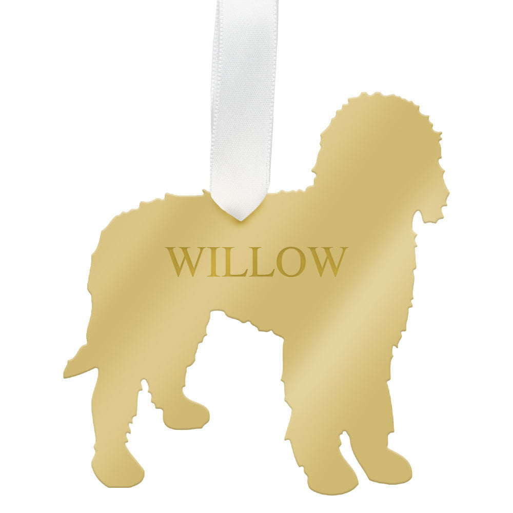I found this at #moonandlola! - Personalized Goldendoodle Ornament