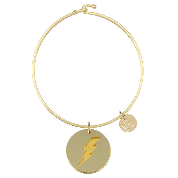 Moon and Lola - Eden Lightning Bolt Charm Bangle