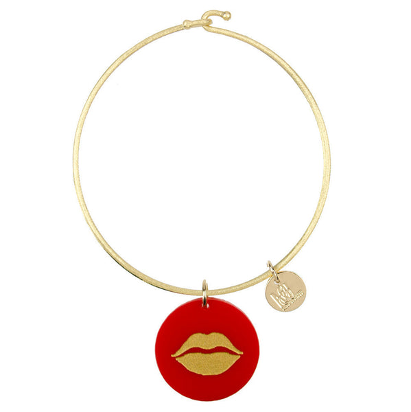 I found this at #moonandlola! - Eden Lips Charm Bangle