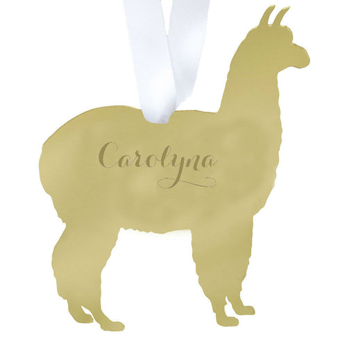 I found this at #moonandlola! - Llama Ornament with Name