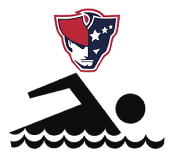 Moon and Lola - AFHS Swimming Logo