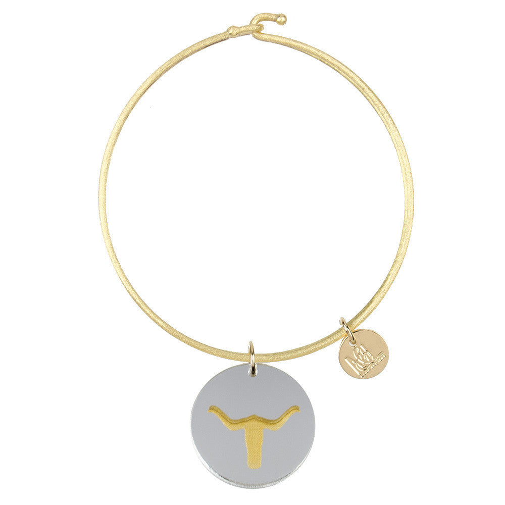 I found this at #moonandlola! - Eden Longhorn Charm Bangle