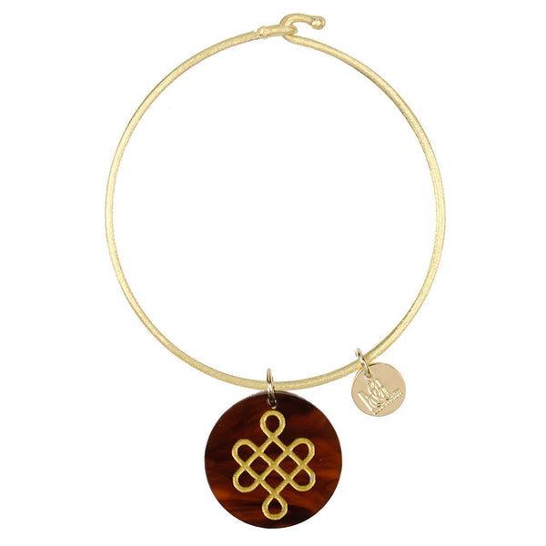 Moon and Lola - Eden Love Knot Charm Bangle