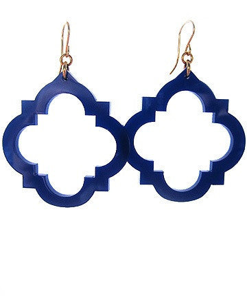 Moon and Lola - Granada Earrings Navy