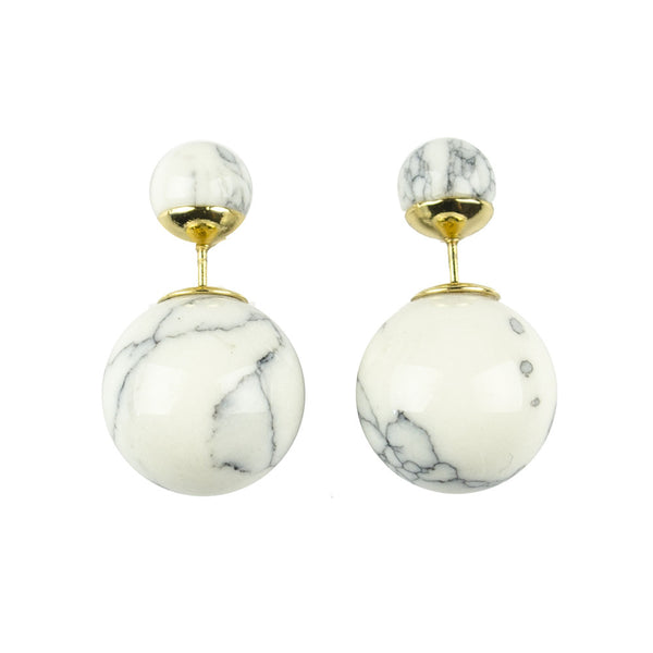 I found this at #moonandlola! - Savona Marble 360 Studs White