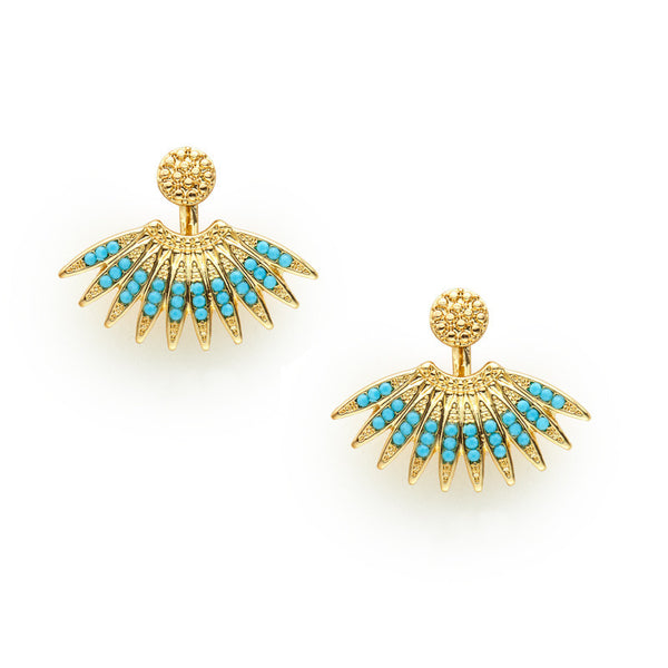 Marquis Studs Turquoise