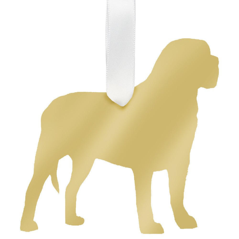I found this at #moonandlola! -  Mastiff Ornament Mirrored Gold