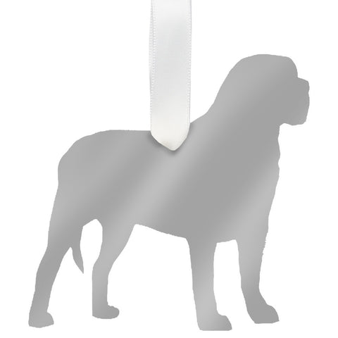 Moon and Lola -  Mastiff Ornament Mirrored Gold