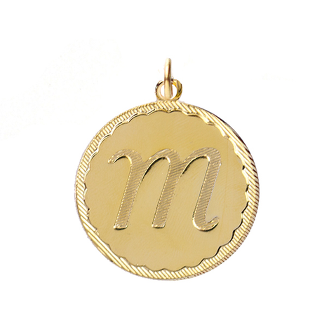 ML xx EM Cutout Metal Charm - Interlocking