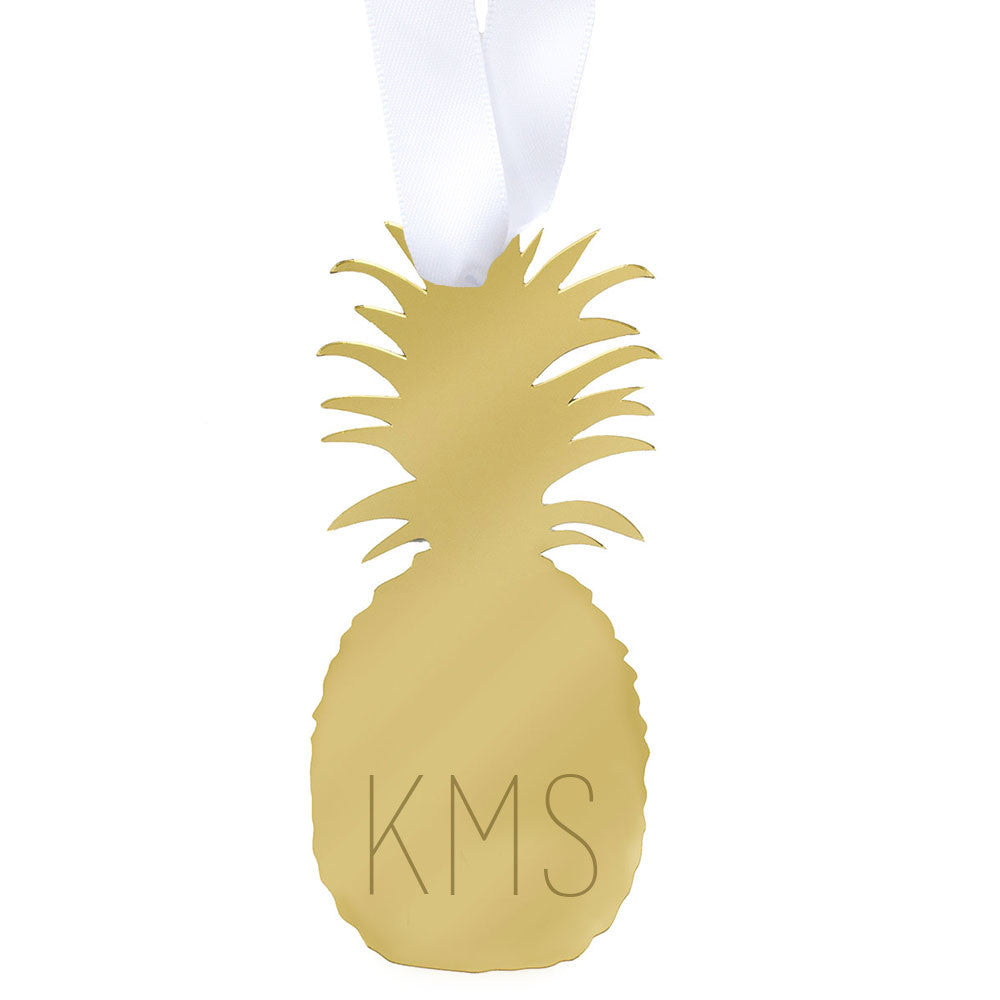 I found this at #moonandlola! - Pineapple Ornament with Monogram