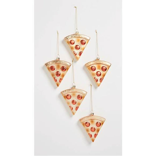 "Moon and Lola - 8 Oak Lane ""We're Pizza People"" ornaments"