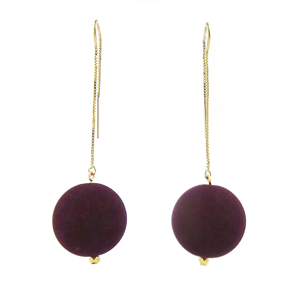 Moon and Lola - Lazare Earrings in Bordeaux