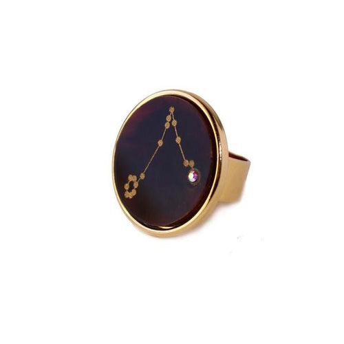 I found this at #moonandlola! - Acrylic Zodiac Constellation Ring