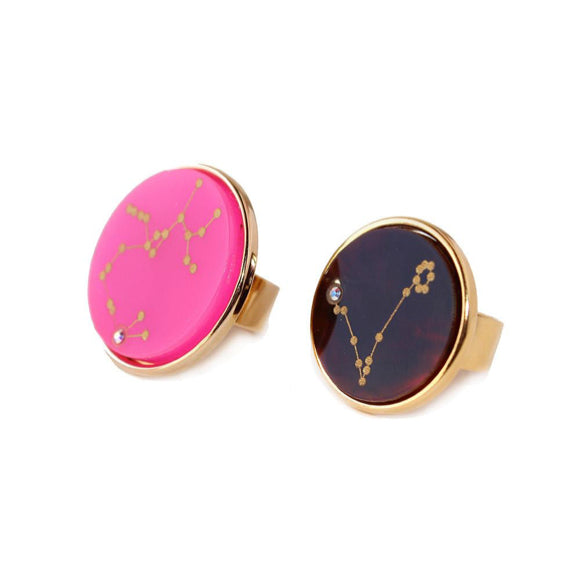 I found this at #moonandlola! - Acrylic Zodiac Constellation Rings