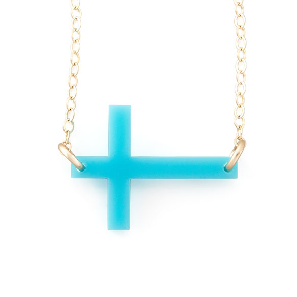 Moon and Lola - Acrylic Cross Necklace