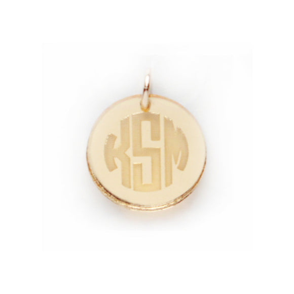 Moon and Lola - Hartford Mirrored Gold Charm