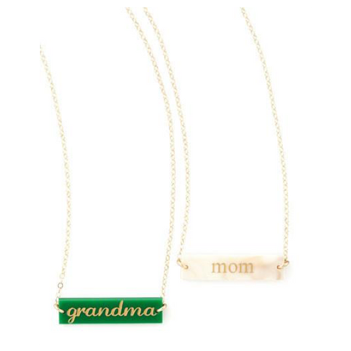 I found this at #moonandlola! - Sample Acrylic Bar Necklaces