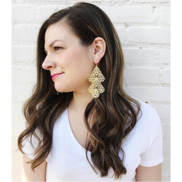 Moon and Lola - Large Cairo Dangle Earrings