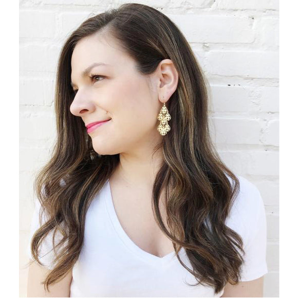 Small Cairo Dangle Earrings at #moonandlola