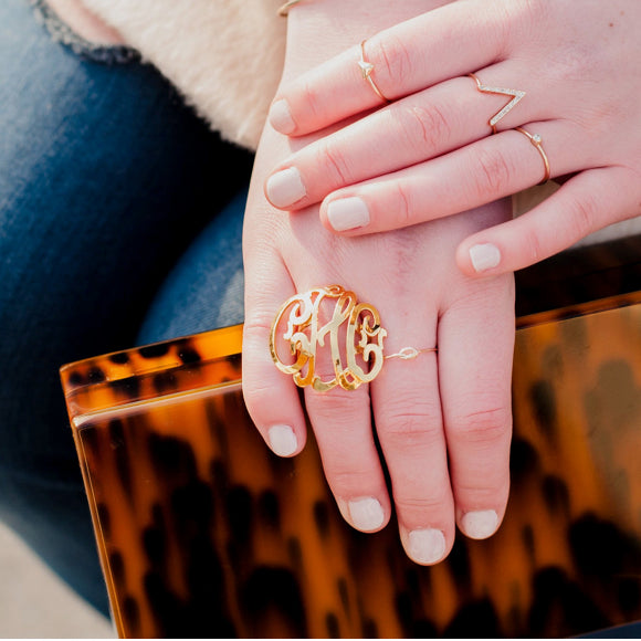 I found this at #moonandlola - Cheshire Script Round Domed Lace Ring