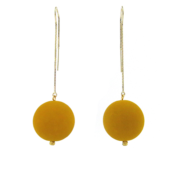 Moon and Lola - Lazare Earrings in Jonquille Yellow